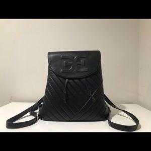 Sam Edelman Elise Quilted Flap Backpack, Black